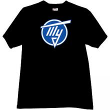 TU - Tupolev aerospace company T-shirt in black