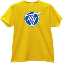 TU - Tupolev aerospace company T-shirt in yellow