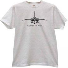 Tupolev Tu-144LL Russian Airliner T-shirt in gray