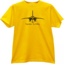 Tupolev Tu-144LL Russian Airliner T-shirt in yellow