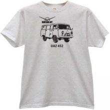 UAZ-452 Russian 4x4 off-road Car T-shirt in gray