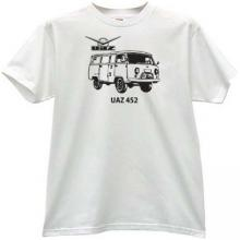 UAZ-452 Russian 4x4 off-road Car T-shirt in white