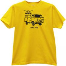 UAZ-452 Russian 4x4 off-road Car T-shirt in yellow
