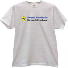 Ukraine International Airlines T-shirt in gray
