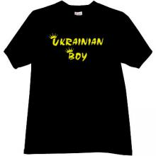 Ukrainian Boy Cool T-shirt in black