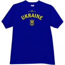 Ukraine - ukrainian soccer (football) T-shirt in blue