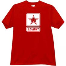 US ARMY T-shirt in red