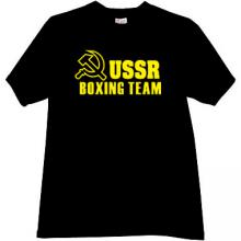 USSR Boxing Team Cool Russian T-shirt in Black 2