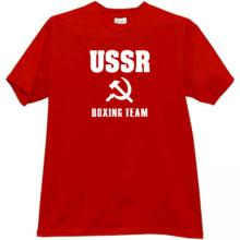 USSR Boxing Team Cool Russian T-shirt in red