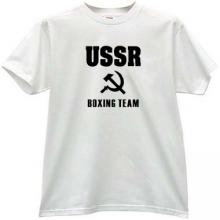 USSR Boxing Team Cool Russian T-shirt in white