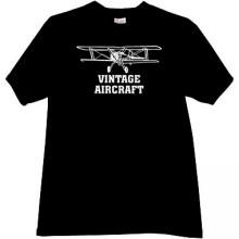 Vintage Aircraft T-shirt in black