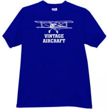 Vintage Aircraft T-shirt in blue