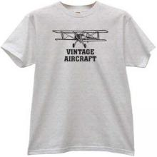 Vintage Aircraft T-shirt in gray