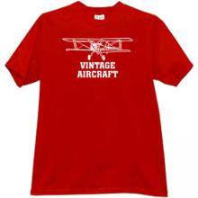Vintage Aircraft T-shirt in red