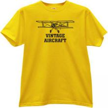 Vintage Aircraft T-shirt in yellow