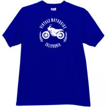 Vintage Motorbikes California T-shirt in blue