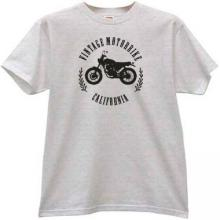 Vintage Motorbikes California T-shirt in gray