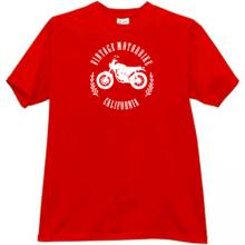 Vintage Motorbikes California T-shirt in red
