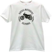 Vintage Motorbikes California T-shirt in white