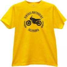 Vintage Motorbikes California T-shirt in yellow
