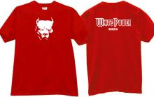 White Power Russia Cool T-shirt in red