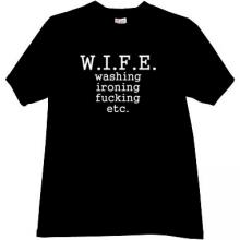 WIFE Funny t-shirt in black