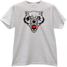 WOLF Animal T-shirt in gray