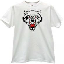 WOLF Animal T-shirt in white