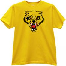 WOLF Animal T-shirt in yellow