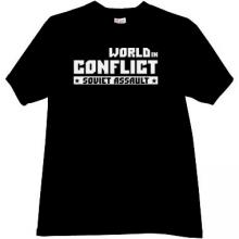 World in Conflict - soviet assault Cool T-shirt in black