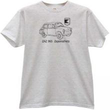 ZAZ 965 Zaporozhets USSR Retro Car T-shirt in gray