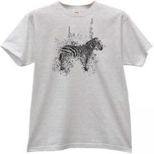 Zebra Grunge Animal T-shirt